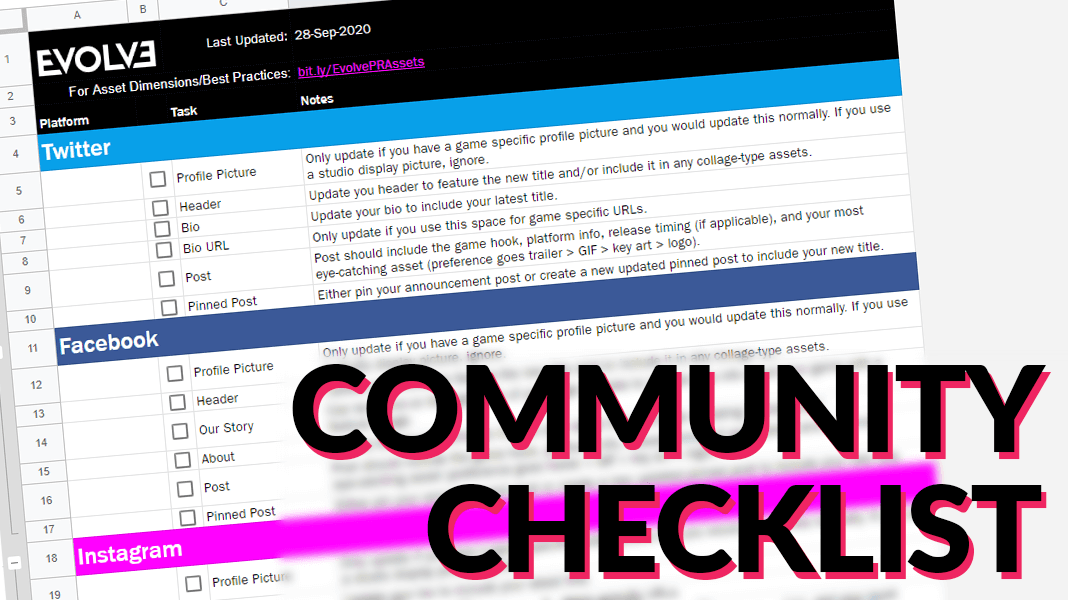 Community Checklist